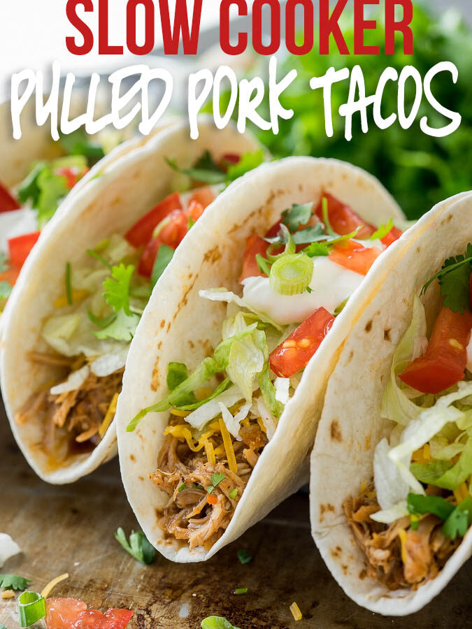 Slow Cooker Sweet Pulled Pork Tacos