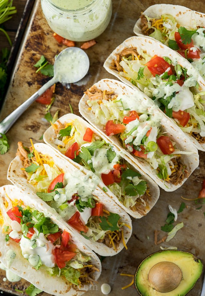 I'm obsessed with these Slow Cooker Sweet Pulled Pork Tacos! They're so good and I use the leftover shredded pork for enchiladas and salads too!