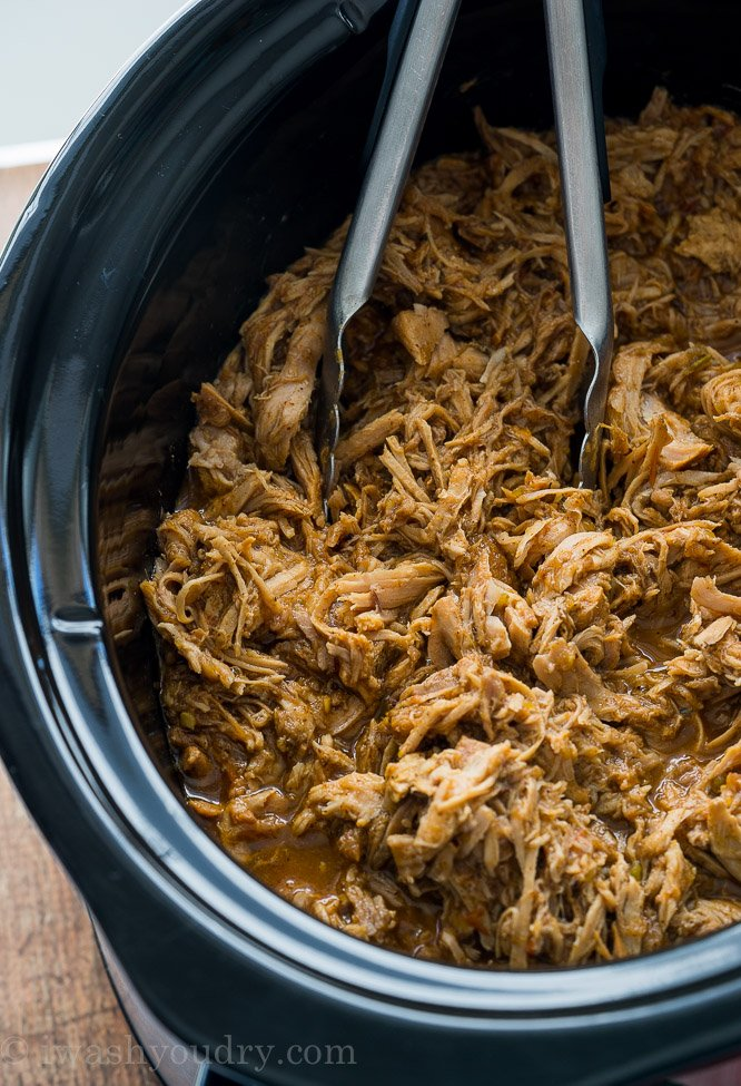 I love using my slow cooker to make this Sweet Pulled Pork! It tastes just like Cafe Rio!