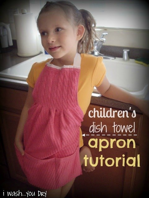 Dish Towel Apron Tutorial
