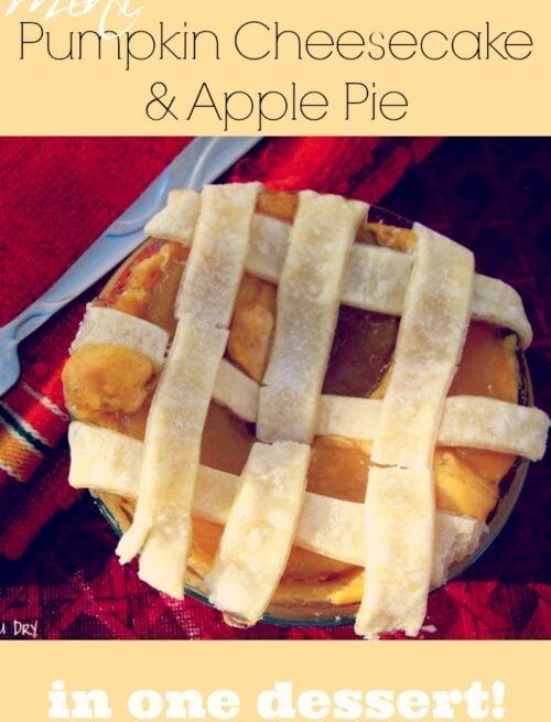 Pumpkin Cheesecake Apple Pie
