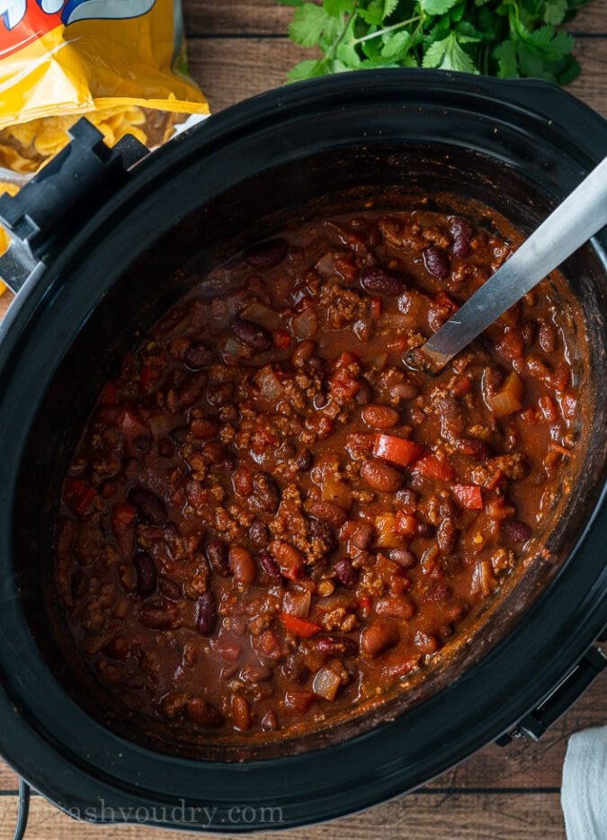 This Crockpot Chili Recipe is super easy to prep and tastes award winning!