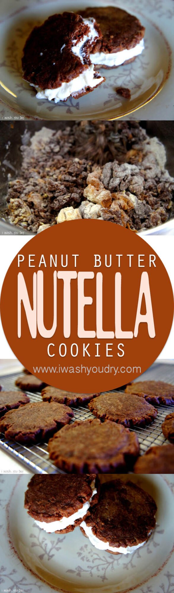 These Nutella Peanut Butter Cookie Sandwiches are so easy and so dang good!