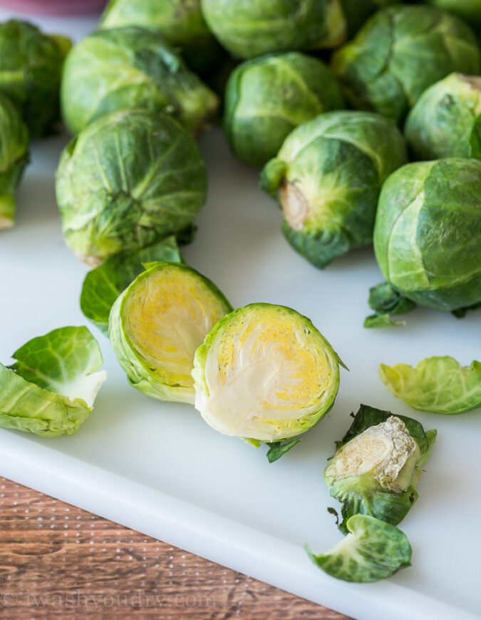 Follow these simple steps on How To Trim Brussels Sprouts...