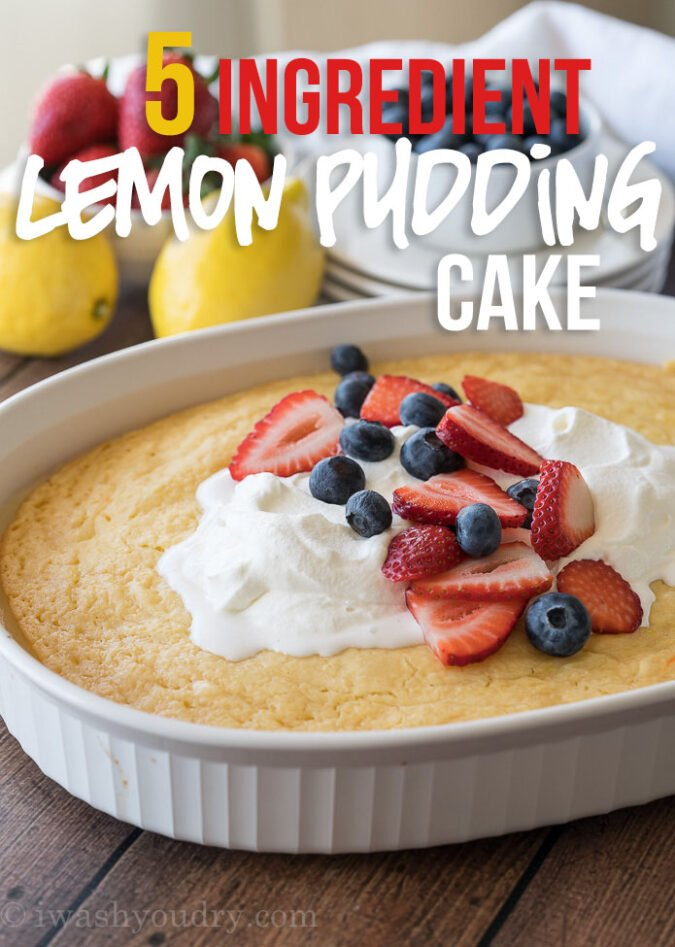 Lemon Pudding Cake I Wash You Dry