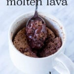 This 3 ingredient Chocolate Molten Lava Mug Cake is ridiculously easy and so perfect for a quick dessert!