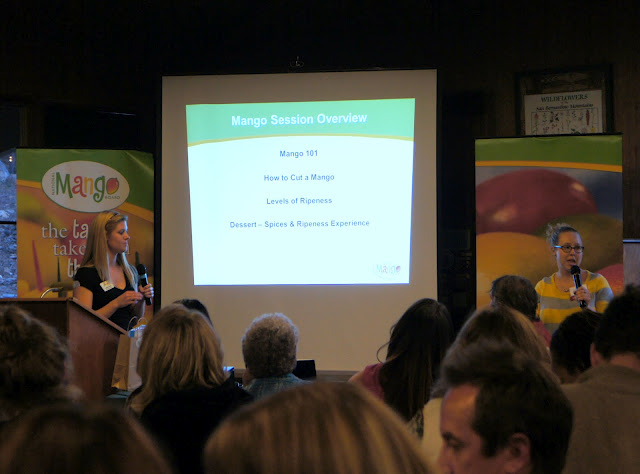 A shot of a presentation about Mangos from Camp Blogaway 2012