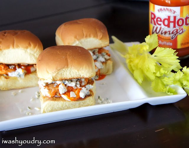 These tasty little Buffalo Chicken and Blue Cheese Sliders make for a quick and easy lunch or dinner!