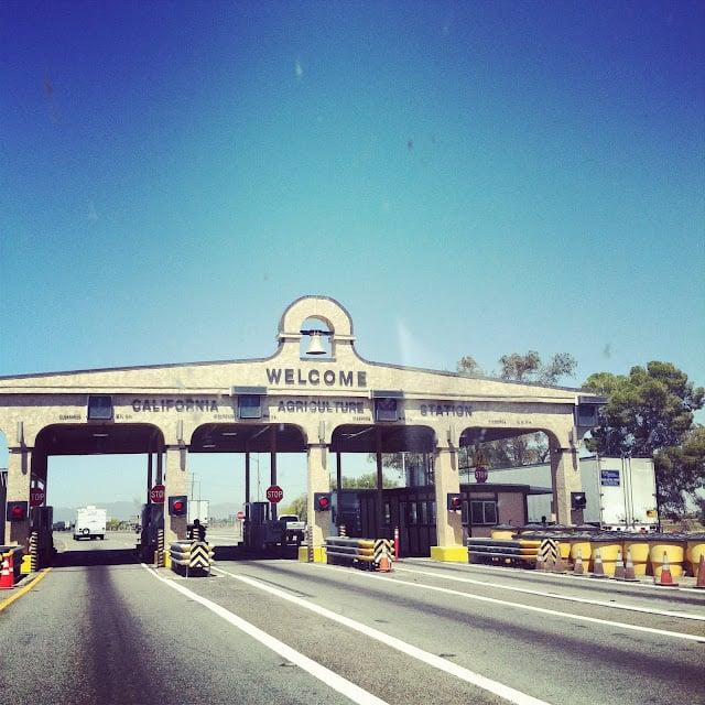 The California border crossing.