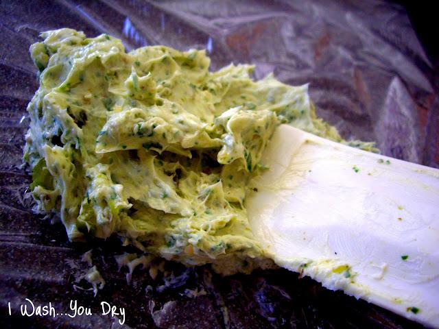 A close up of a butter mixture.