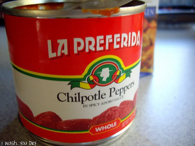 A close up of a can of Chilpotle Peppers.