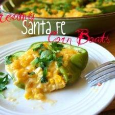 Creamy Santa Fe Corn Boats