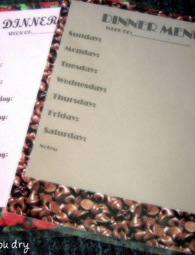 A blank laminated dinner menu.