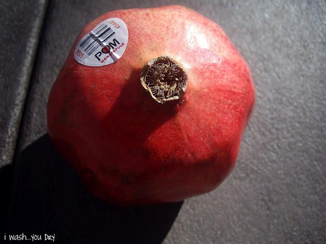 A close up of a pomegranate.