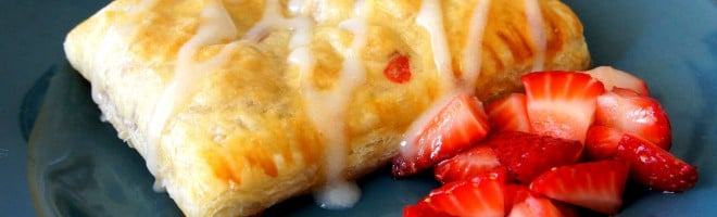 Homemade Strawberries and Cream Cheese Toaster Strudels