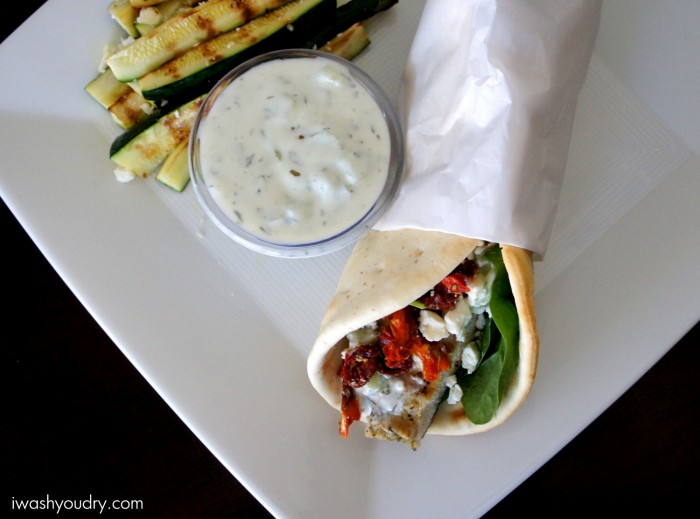 Grilled Chicken Souvlaki Pita