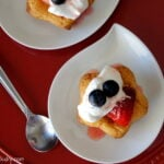 Patriotic Strawberry Shortcake Cookies