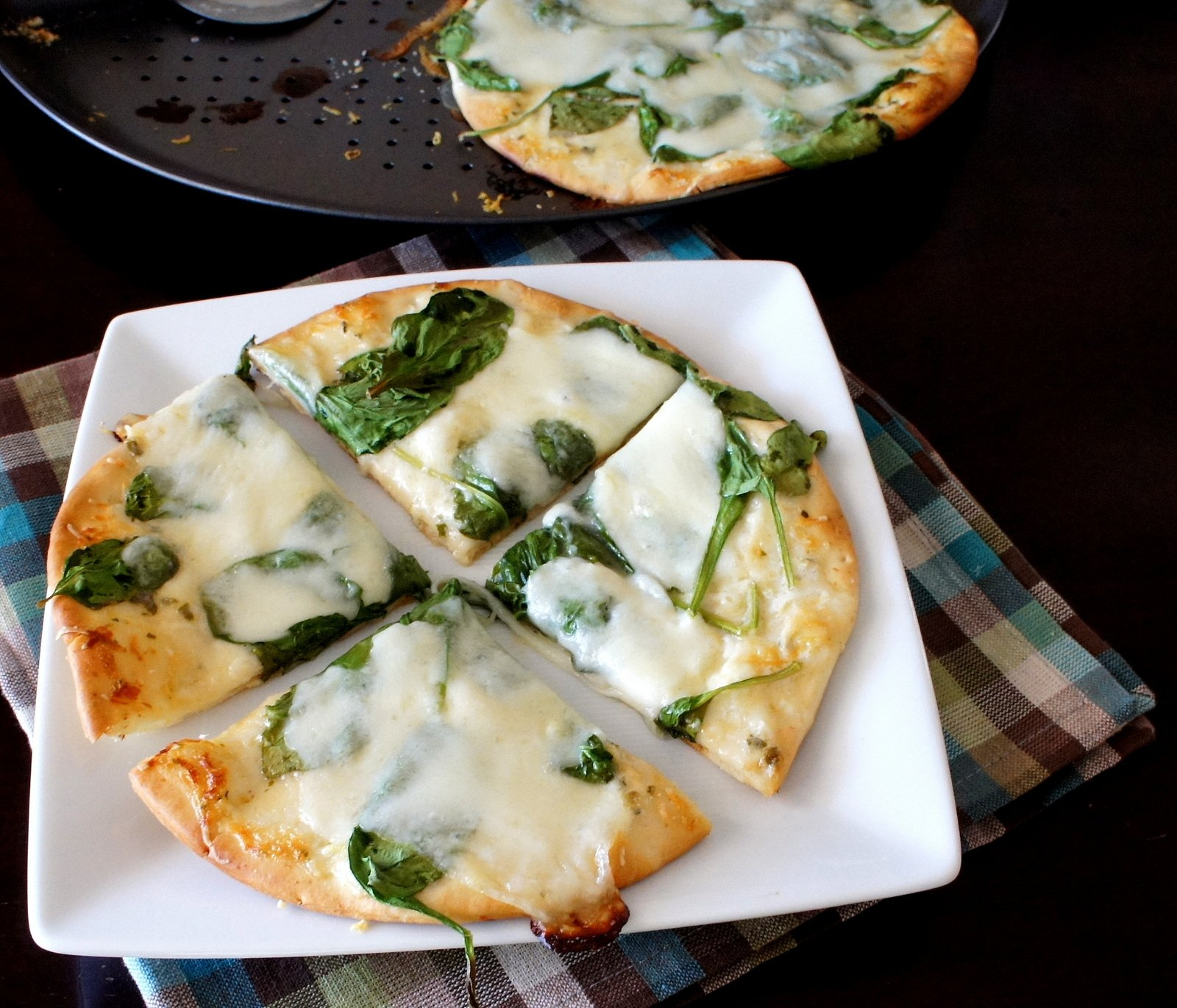 White Pita Pizza