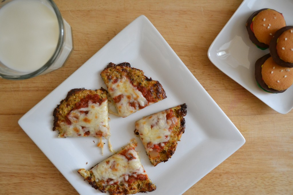 Cauliflower Crusted Pizza & Hamburger Cookies {Sarcastic Cooking}