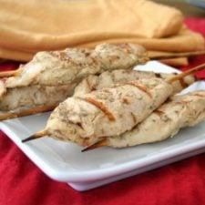 Goddess Chicken Satay on a plate