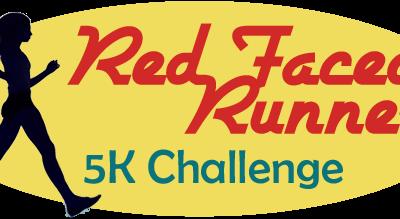 """Logo saying: """"Red Face Run - 5k Challenge"""""""