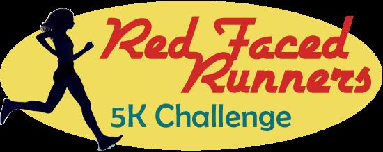 """Logo saying: \""""Red Face Run - 5k Challenge\"""""""