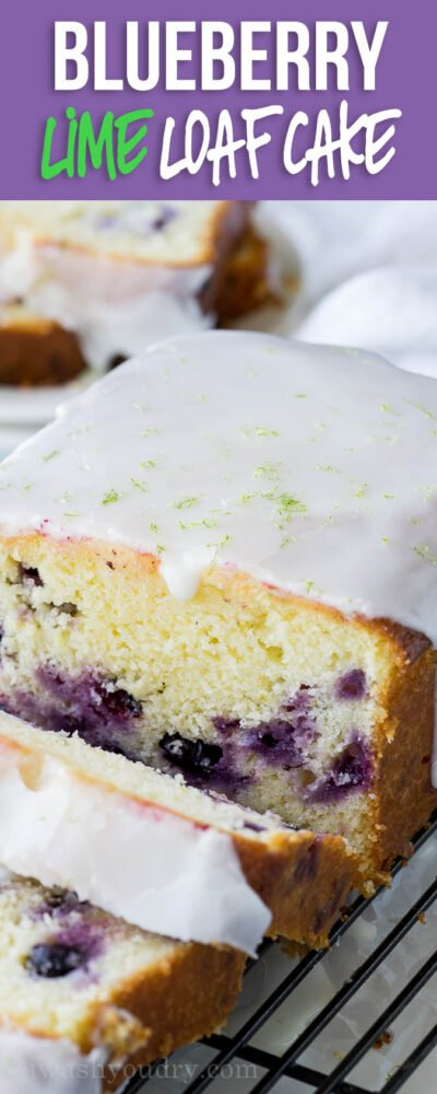 This super easy Moist Blueberry Lime Loaf Cake was a total hit with my family! The flavors pair so perfectly together!