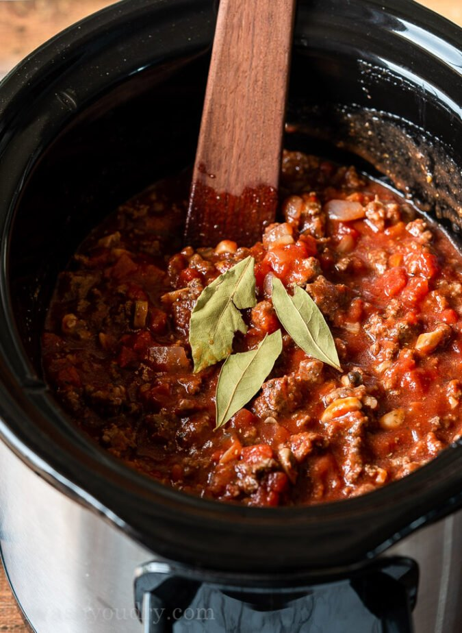Spaghetti Bolognese Recipe in the Slow Cooker