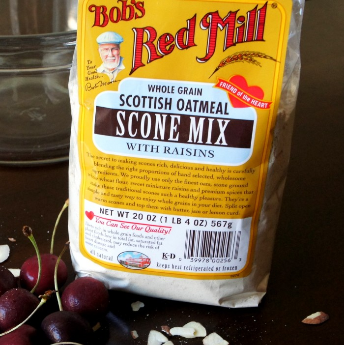 A close up of a bag of Bob\'s Red Mill Scottish Oatmeal Scone Mix