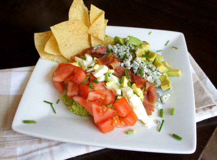 Cobbocado Guacamole is a fusion of a cobb salad and a chunky guacamole - so good!