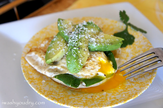 Open Faced Egg and Avocado Sandwich