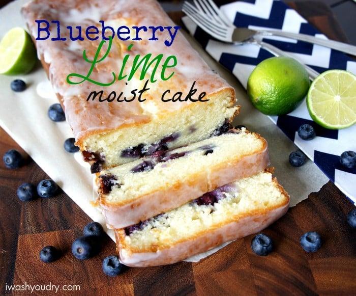 Moist Blueberry – Lime Loaf Cake