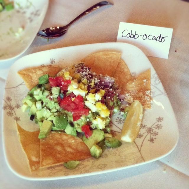 Cobbocado Guacamole on a plate