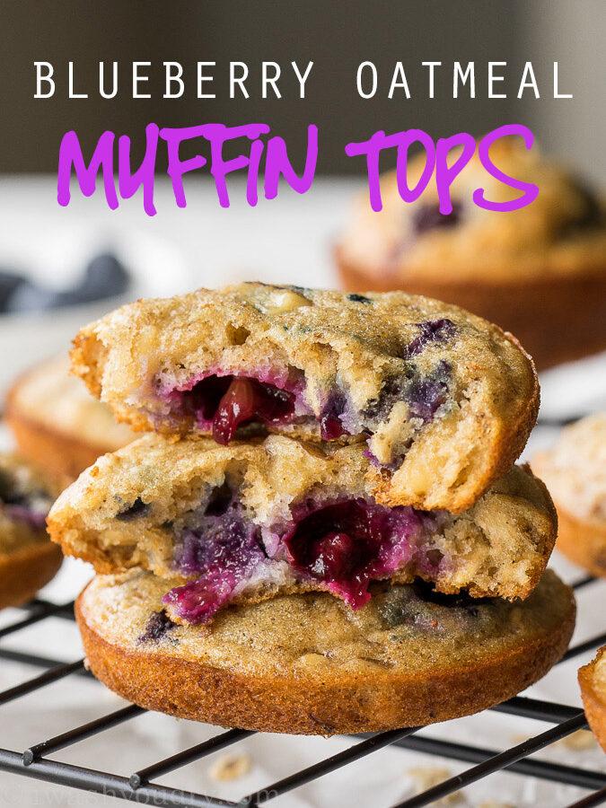 Blueberry Walnut Oatmeal Muffin Tops