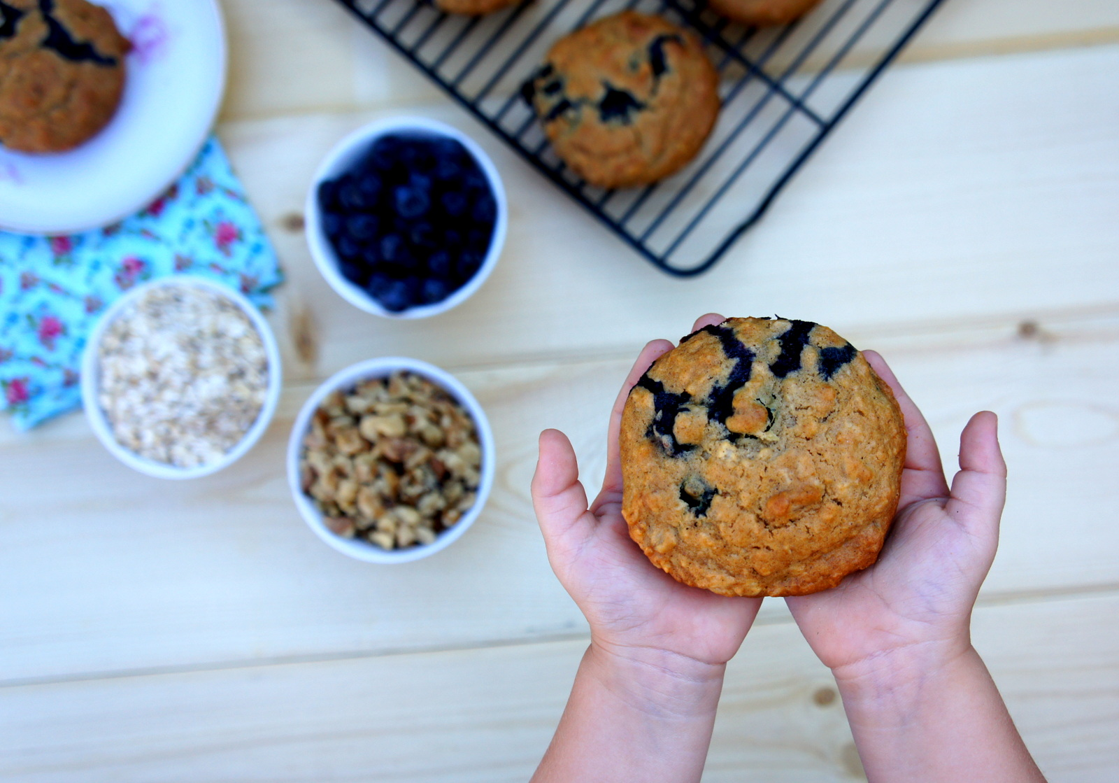 Blueberry Walnut Oatmeal Muffin Tops