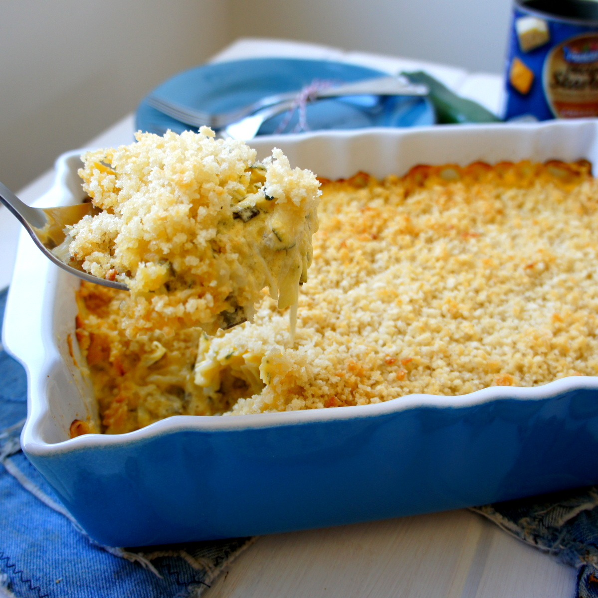 Cheesy Zucchini and Potato Casserole - I Wash... You Dry