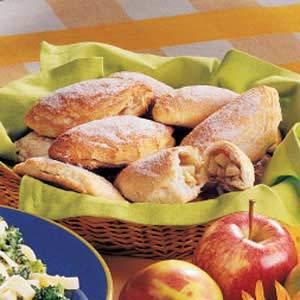 A basket of apple cinnamon turnovers