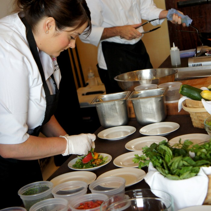 Chefs preparing food for the Phoenix Cooks in Scottsdale, Arizona