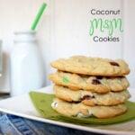 Coconut M&M Cookies