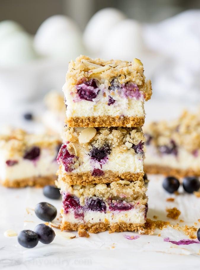 Blueberry Crumble Cheesecake Bars - I Wash... You Dry