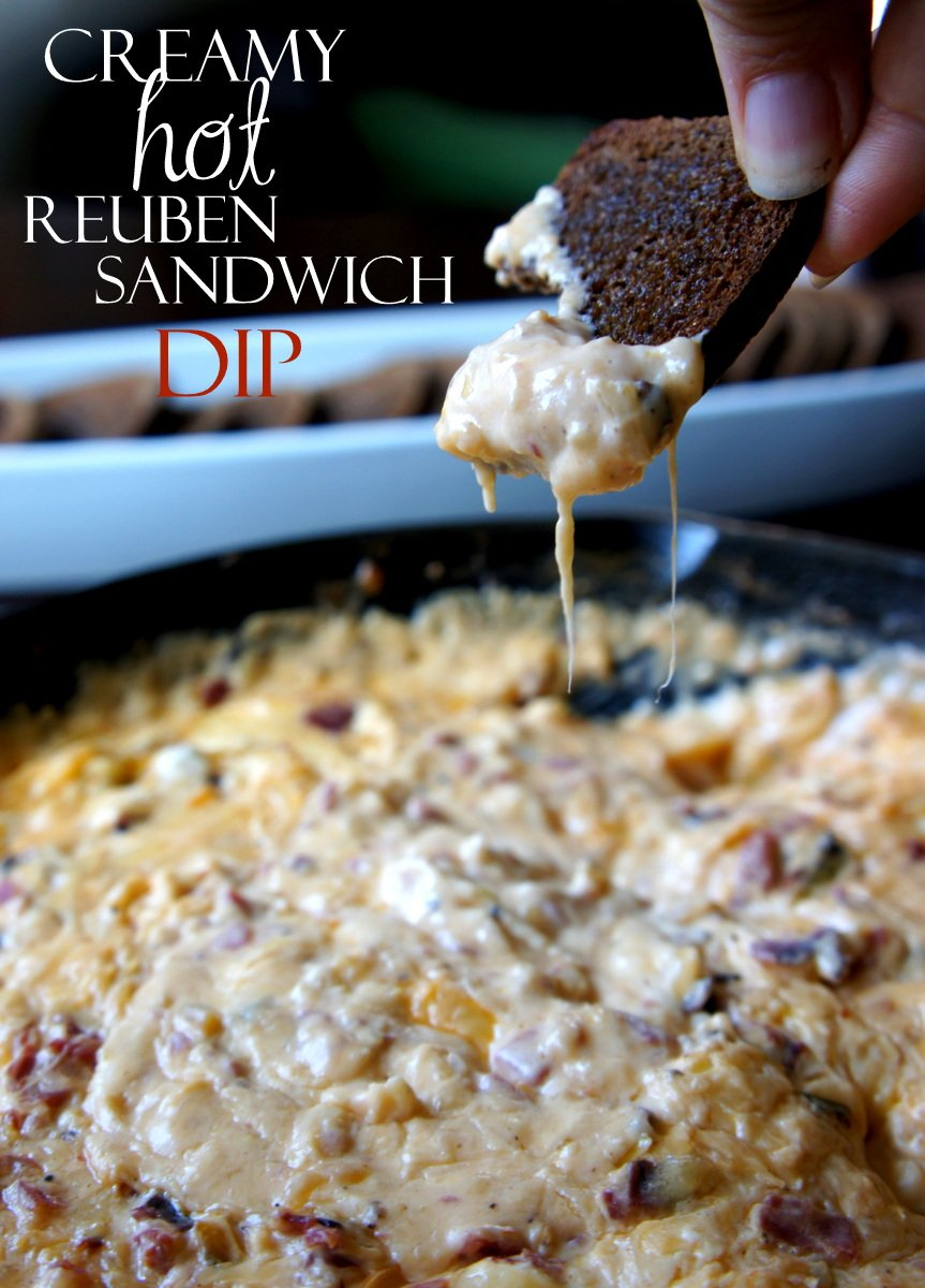 Creamy Hot Reuben Sandwich Party Dip
