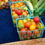 Cherry tomatoes at a Farmers Market in San Francisco