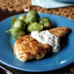 Parmesan Crusted Chicken with a Creamy Lemon-Chive Sauce