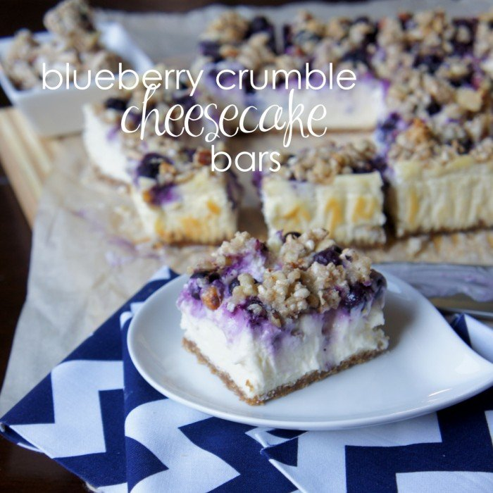 Blueberry Crumble Cheesecake Bars - I Wash... You Dry