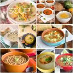 """A grid of nine pictures with different soups titled """" Soup for the Soul"""""""