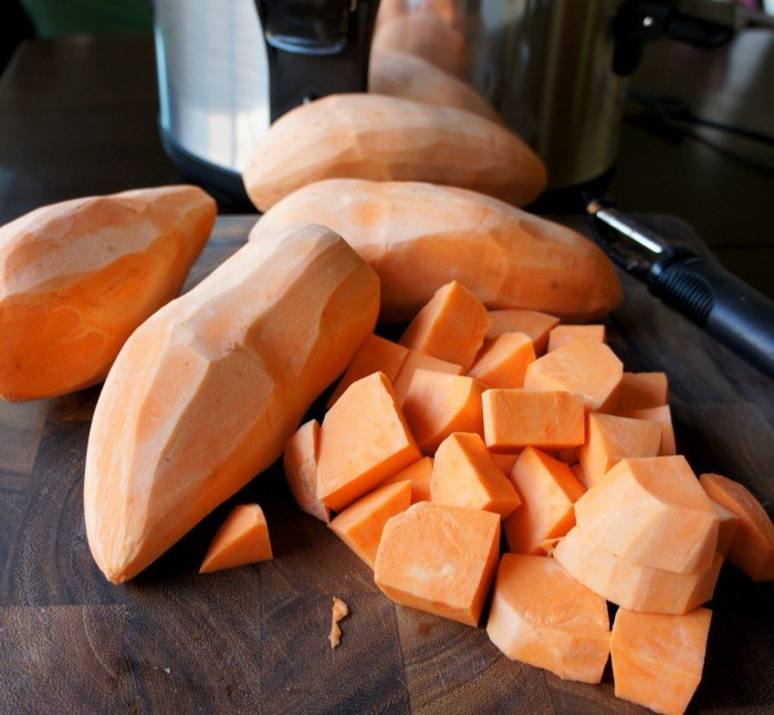 Sweet potatoes diced