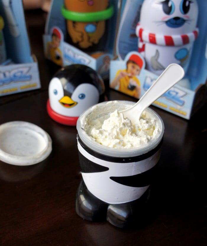 A container of Orange Creamsicle Ice Cream