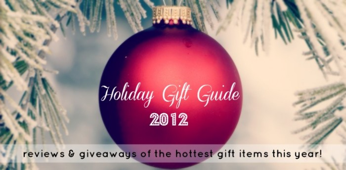 """A red Christmas ball ornament with \""""Holiday Gift Guide 2012\"""" on it"""