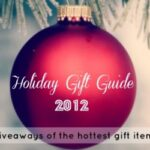 """A red Christmas ball ornament with """"Holiday Gift Guide 2012"""" written across it"""