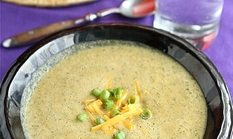 Healthy Broccoli & Cheese Soup
